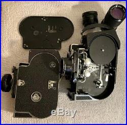 Two Vtg Bolex H16 Reflex Movie Camera Free Shipping Two Lens NOT TESTED
