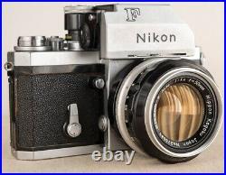 VINTAGE 1966 NIKON F PHOTOMIC TN CAMERA BODY with NIKKOR 50mm 1.4 LENS