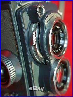 VINTAGE ROLLEIFLEX BABY DUAL LENS TLR 4 X 4 CAMERA WithORIG. CASE & STRAP SUPER