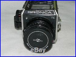 VINTAGE-ZENZA BRONICA EC-TL MEDIUM FORMAT SLR CAMERA With75mm 12.8 LENS-VERY NICE