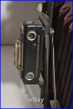 Vintage 1940's Brand Camera Co. LA, CA 4x5 Folding Bellows Camera withIlex 3 Lens