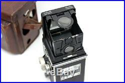 Vintage 2.8D ROLLEIFLEX TLR CAMERA with Zeiss Planar 80mm f2.8 Lens & CASE