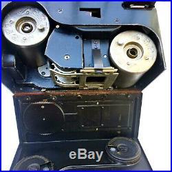 Vintage Andre Debrie Sept 35 Film Camera Paris Anastigmat Lens Optis F=50mm