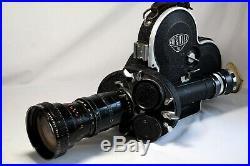 Vintage Arriflex 16mm Cine film camera withAngenieux zoom lens 12-120mm f12 2.2