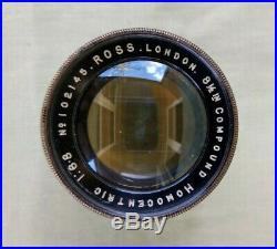 Vintage Brass Ross 8½ inch 16.8 Compound Homocentric Camera Lens