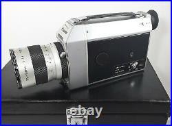 Vintage CANON Super 8 Auto Zoom 814 Original Case & Vivitar ND 2x Lens & Extras