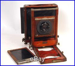 Vintage CONLEY 5x7 Wooden Camera + Kodak Lens and Holder
