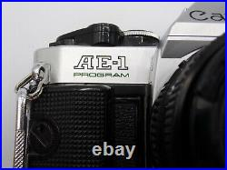 Vintage Canon AE1 Program 35mm Film Camera 50MM 11.8 Lens Canon With Strap