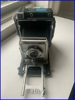 Vintage Graflex crown graphic 4x5 camera with Kodak Lens