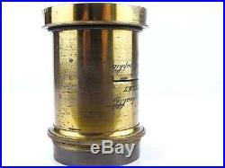 Vintage Gundlach Rapid Rectigraphic 10x12 Brass Antique Camera Lens Petzval 25