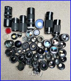 Vintage JOB LOT of Various camera lens lenses PARTS AND REPAIR
