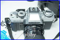 Vintage Japanese Minolta XGM SLR Film Camera with 30-80mm Macro Zoom Lens
