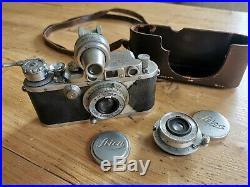 Vintage Leica D. R. P. Ernst Leitz Wetzlar No. 282234, 1930s Camera incl. 2 lenses