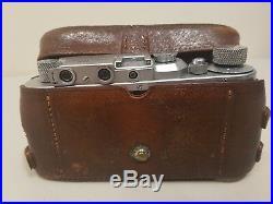 Vintage Leica III Ernst Leitz Wetzlar DRP 1937 35mm camera, Summar 50mm lens VGC