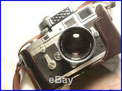 Vintage Leica M3 Camera Body With Lens, Lens Cap, Meter, Leather Leica Case