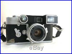 Vintage Leica M3 Single Stroke Camera, 3 lenses, Goggles/Eyes, Leitz Meter MR