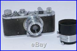 Vintage Leica Standard camera. Circa 1937. Leica Elmar 5cm f/3.5 lens and Shade