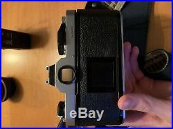 Vintage NIKON FM Film Camera SLR with 3 Lenses (2 Nikon, 1 Promastar) And Flash