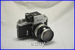 Vintage Nikon F 24mm SLR Film Camera with 105MM Lens