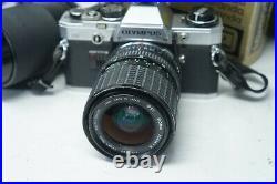 Vintage OLYMPUS OM10 SLR FILM CAMERA WITH 70-210mm + Sigma 28-70mm lenses