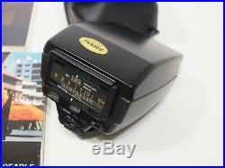 Vintage Olympus OM-2n MD 35mm Film SLR Camera & 50mm Zuiko Lens Booklets & Flash