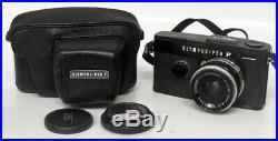 Vintage Olympus Pen FT Black Film Camera with E. Zuiko Auto-W 25mm f/4 Lens