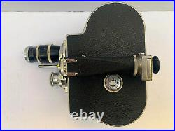 Vintage Paillard BOLEX H16 Deluxe or Supreme 16mm Movie Film Camera & 2 Lenses
