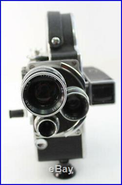 Vintage Paillard Bolex 16mm Movie Camera Switar Yvar Lens 15mm, 25mm, 75mm Case