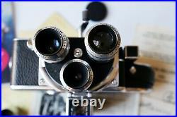 Vintage Paillard Bolex H 16 16mm Film Movie Camera WithCase, Accessories & Lenses