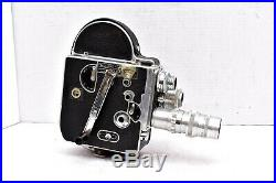 Vintage Paillard Bolex H16 Reflex Movie Camera with 3 Lenses