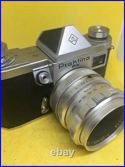 Vintage Praktina FX camera with Steinheil Quinon lens MINT
