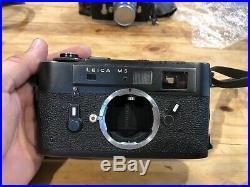 Vintage Rare Leica M5 Black body Range Finder 35mm Camera With Summaron F=3.5 Lens