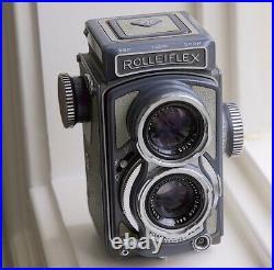 Vintage Rollei Rolleiflex Baby TLR camera +Schneider lens, 4x4 vesion 2.8F 3.5F