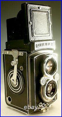 Vintage Rolleiflex Camera Tlr Rollei 120 Film Twin Lens Reflex Germany Beauty