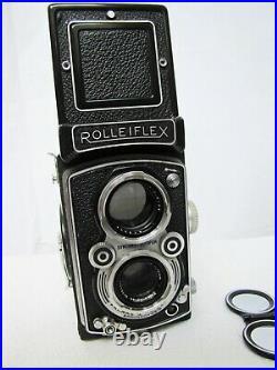 Vintage Rolleiflex DBP DBGM TLR Camera with Zeiss Tessar Heidosmat Lenses 75mm