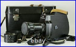Vintage SET KMZ Krasnogorsk 3 16mm Movie Camera METEOR 5-1 1,9/17-69mm Lens
