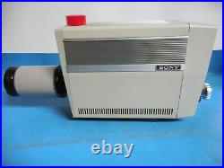 Vintage Sony AVC-4600 Video Camera with Canon V10 x 15MS TV Zoom Lens