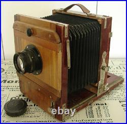 Vintage Soviet FK 13x18cm wooden large format camera with I-51 4.5/210mm lens EXC