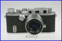 Vintage Tower Type 3 35mm Rangefinder Camera Nikon Nikkor H 50mm f/2 Lens WORKS