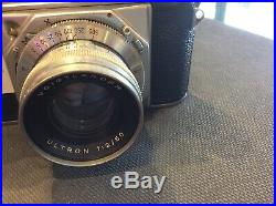 Vintage VOIGTLANDER Prominent CAMERA Withcase & voightlander Ultron f2 50mm Lens