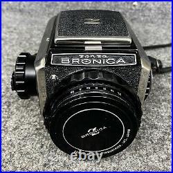 Vintage Zenza Bronica S2A With Nikkor 75mm f2.8 Lens 2 1/4 X 2 1/4 SLR Camera EUC