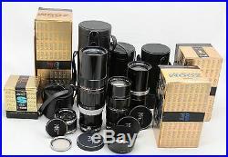 Vintage analog camera Olympus Pen F / Pen FT & 4x Zuiko lens f. E. 90 150 200 mm