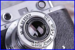 Vintage camera Leica 35 mm Leitz Elmar lens f = 5, 13.5