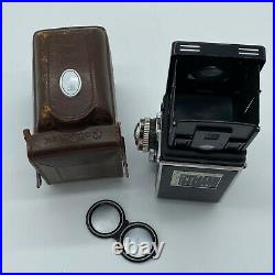 Vintage estate camera ROLLEIFLEX E2 Carl Zeiss PLANAR 2.8 Lens UNTESTED AS-IS