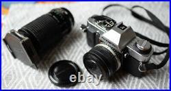 Vintage olympus OM20 camera 2x teleconverter miranda mirage 70-210mm macro lens