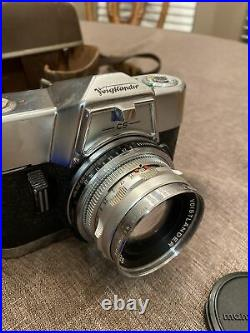 Voigtlander Bessamatic 35mm SLR Camera Super Dynarex F4 200 Septon 12/50 Lens