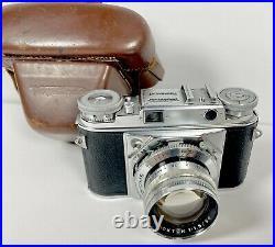 Voigtlander Prominent Nokton 11.5/50 Vintage Camera & Lens with Case Germany