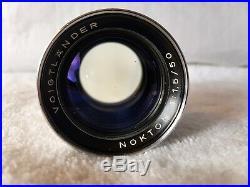 Voigtlander Prominent with Nokton 50mm f1.5 Lens