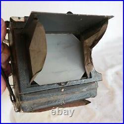 Vtg Speed Graphic 4x5 View Field Press camera Zeiss 135mm F/4.5 Lens (With issues)