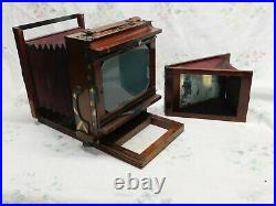 Wet Plate Collodion 5X7 View Camera with Red Bellows and Conley Lens NICE